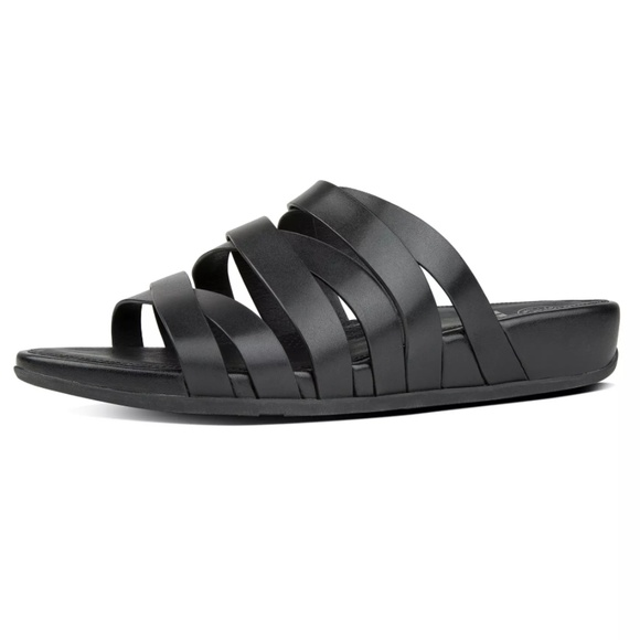 8418d9445 Fitflop Shoes - Fitflop Lumy Leather Criss-Cross Slide Sandals